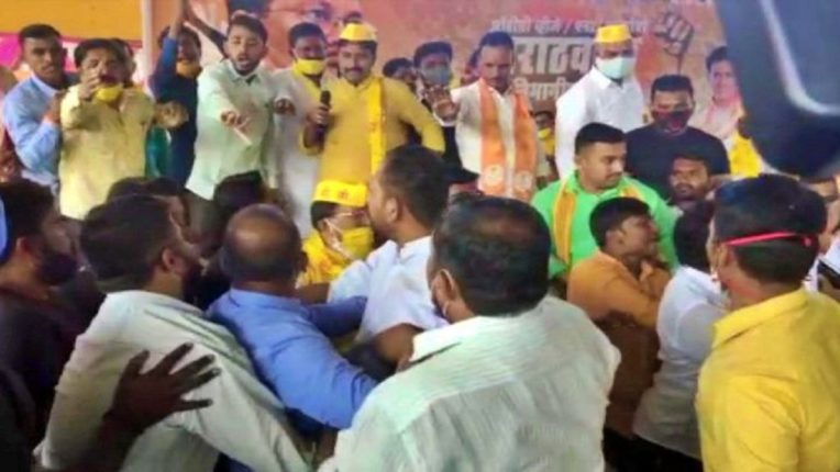 In the meeting of Minister Vijay Vadettiwar in Aurangabad, there was a lot of confusion among the workers
