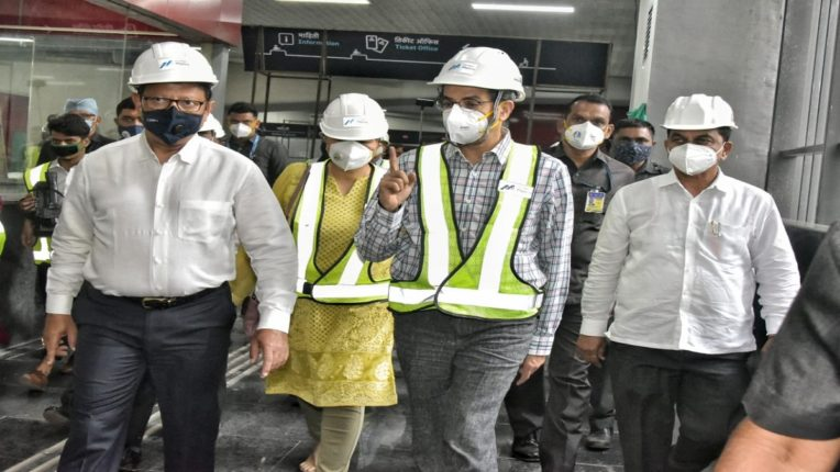 Mumbai Metro works should be completed in quality and on time - Chief Minister Uddhav Thackeray Overview of Metro's progress, inspection of Metro Corridor test engines