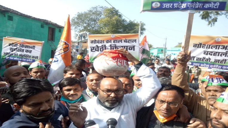 'Save the cow-save the farmer' yatra without permission; 70 Congress workers arrested