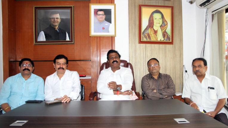 congress press conference at thane