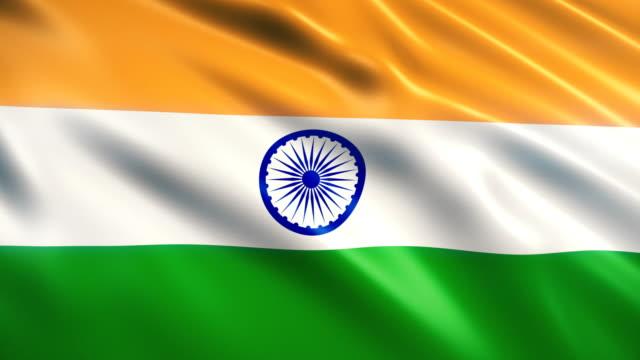 India Flag Animation (Close-up)