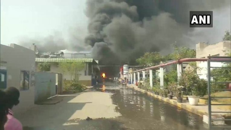 Hyderabad A horrific explosion at a chemical company; 8 workers seriously injured