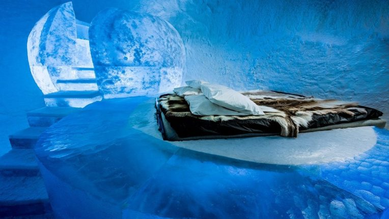 The world's first ice hotel will melt by April 11, 2021