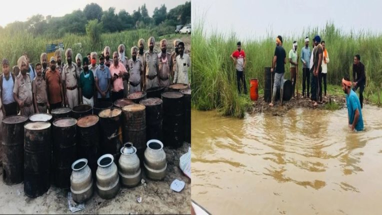 liquor recovered from rivers in punjab Even the police are ignoring it