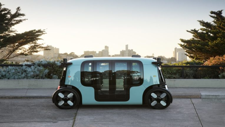 amazon zoox unveils self driving robotaxi an electric fully driver less vehicle competition with waymo cruise uber and tesla