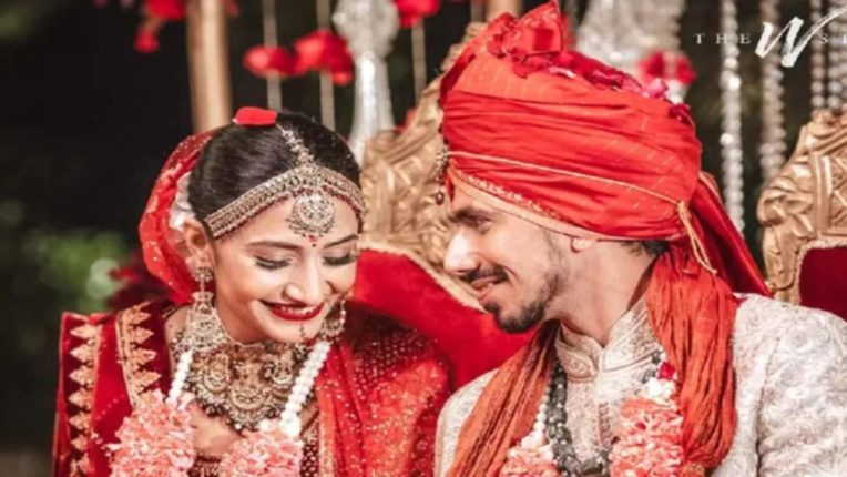 indian cricketer yuzwendra chahal ties knot with dhanashree verma nrvb