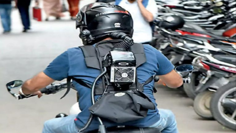 bangalore mechanical engineer ac helmet to make your demaag cool nrvb