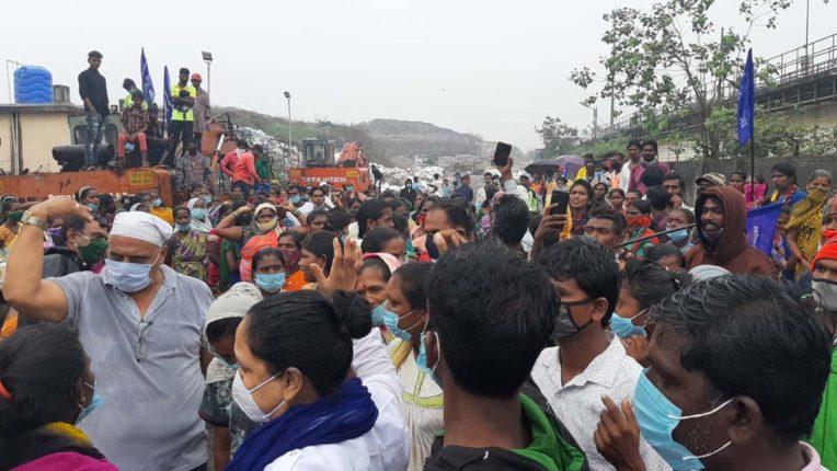 kalyan dumping ground protest