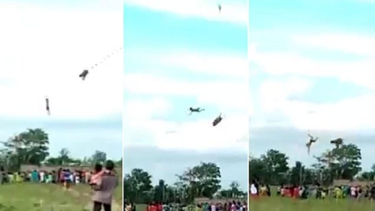 A 12-year-old boy flew 30 feet in the air with a kite and fell to the ground
