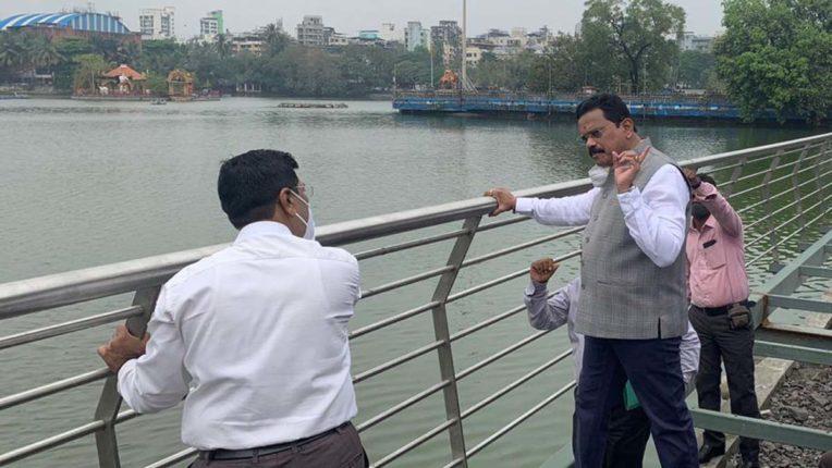 mp vichare visit to masunda lake
