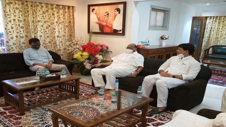 Sharad Pawar, Ajit Pawar, Dhananjay Munde met Shiv Sena leader Sanjay Raut