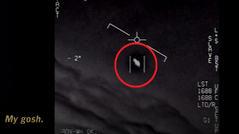 The existence of aliens at the bottom of the sea; Picture of a 'flying saucer' captured by US troops