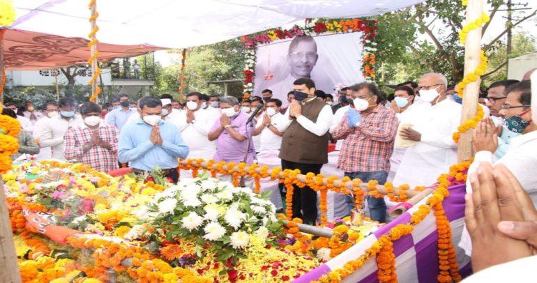 Former Tribal Development Minister Vishnu Savara cremated