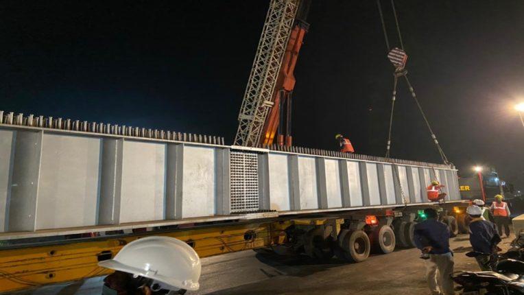 कोपरी पुलाच्या भुयारी मार्गावर गर्डर टाकण्यात यश ; महत्त्वाच्या असलेल्या रेल्वे गर्डर पुढील आठवड्यात