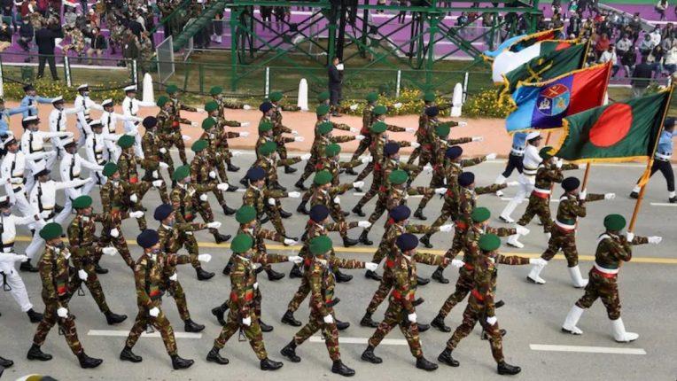 प्रजासत्ताकदिनी पहिल्यांदाच सहभाग; बांगलादेशच्या सैनिकांचे राजपथावर संचलन
