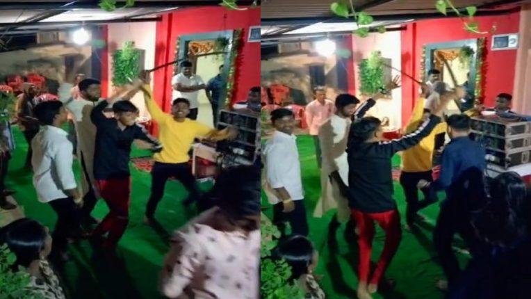 तलवारी हातात घेऊन बेधुंद पणे नाचणाऱ्या तरुणाईचा व्हिडिओ सोशल मीडियावर व्हायरल