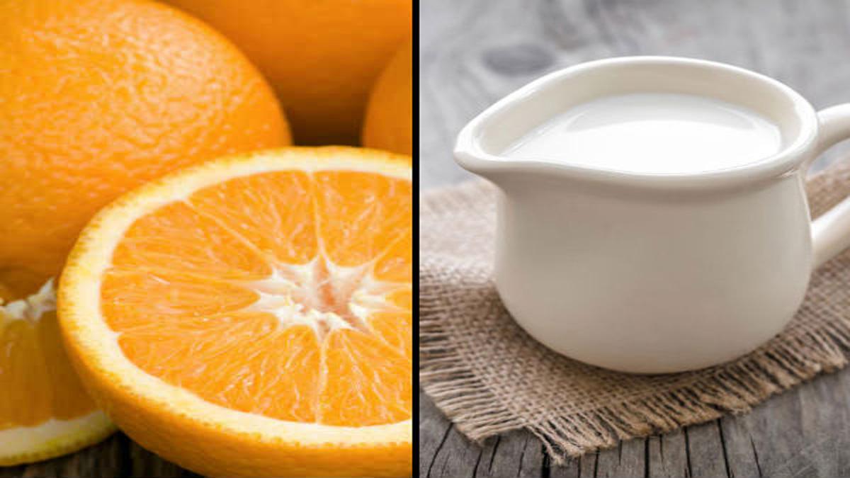 orange and milk