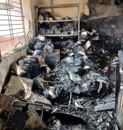 अकोले महाविद्यालयाच्या आयटी लॅबला भीषण आग ; सुमारे ६२ लाखांचे नुकसान