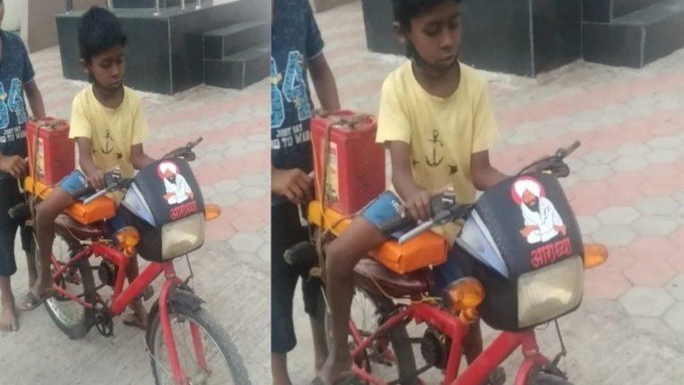 युवकाची इंधनाच्या वाढत्या दरावर मात; बॅटरीवर चालणाऱ्या सायकलची निर्मिती