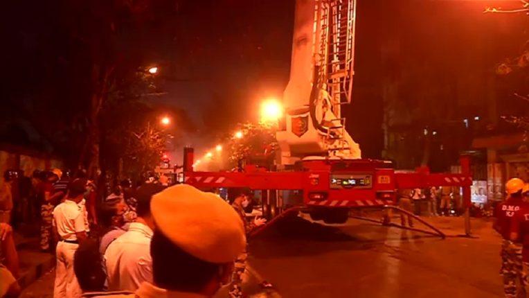कोलकात्यात रेल्वेच्या इमारतीला आग, ९ जणांचा मृत्यू, आगीवरून आरोप-प्रत्यारोप