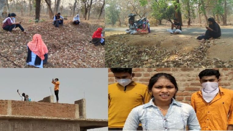 Online exams on mobile; Students of Gadchiroli reached directly in the forest of Chhattisgarh and