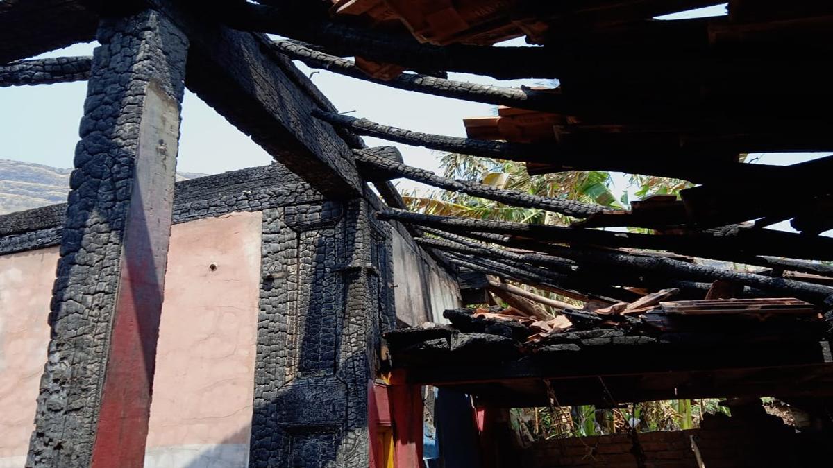 burnt house in karmar