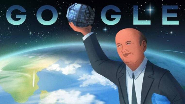 google doodle for satelite man