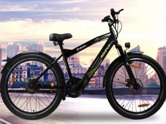 पुण्याच्या स्टार्टअपकडून Rompus+ ई-सायकल लाँच ; ५० रुपयांत १०००किमी धावणार