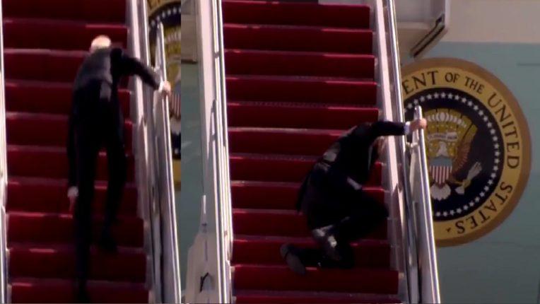 अर्रर्रर्र…बाबो! विमानाच्या पायऱ्या चढताना राष्ट्राध्यक्ष बायडेन यांचा गेला तोल आणि पुढे काय झालं ते तुम्हीच पाहा ; Video व्हायरल