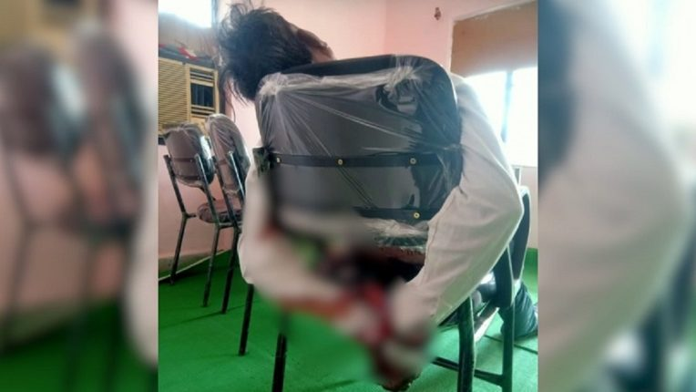 She murdered her husband by tying him to a chair by showing him a porn video Shocking incident in Nagpur