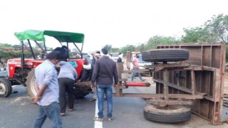 अमरावती- नागपूर महामार्गावर भीषण अपघात; दोन जणांचा मृत्यू , तर दोन शेतकरी गंभीर जखमी