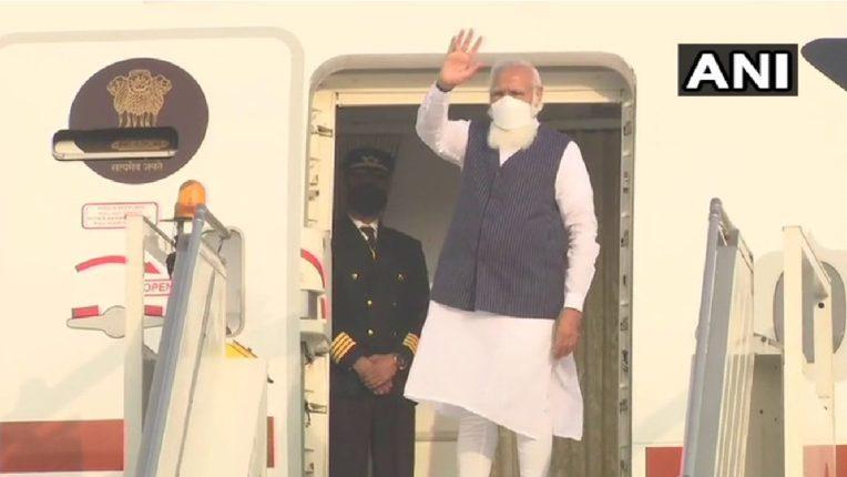 पंतप्रधान नरेंद्र मोदी बांगलादेशसाठी रवाना; ढाका विमातळावर उतरल्यावर १९ तोफांची सलामी मिळणार