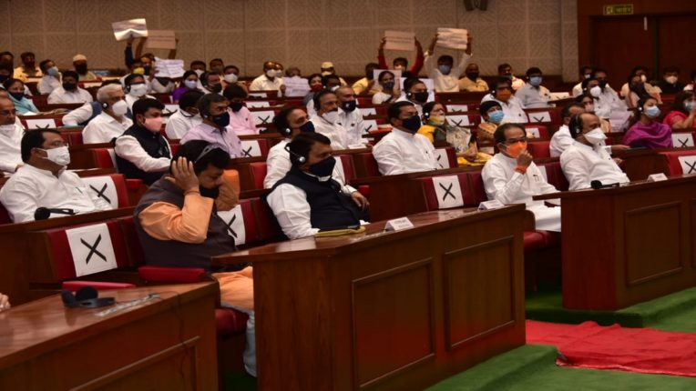 Strong rift in the Assembly; Opposition's resignation Marathwada, Vidarbha held hostage for 12 MLAs