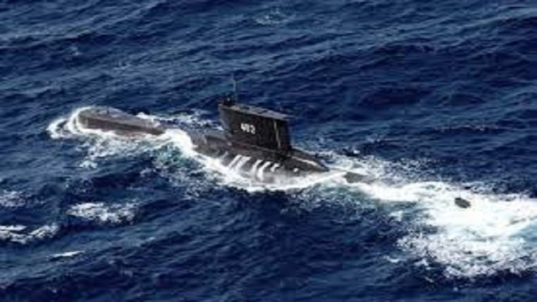 The submarine sank near the island of Bali; 53 soldiers drowned due to lack of oxygen