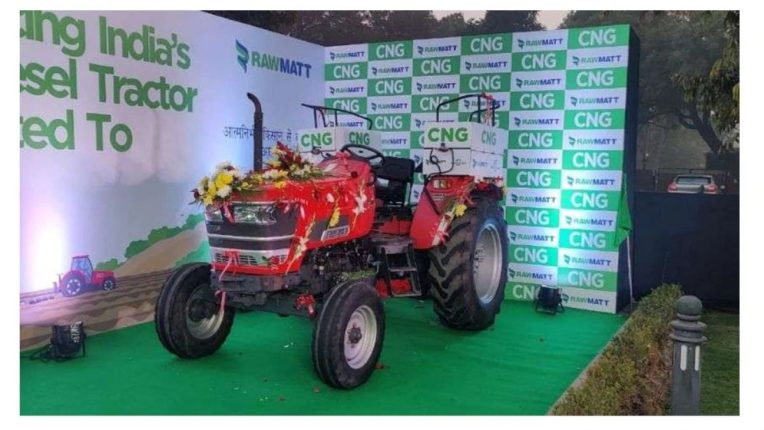 Now the tractor will run on CNG