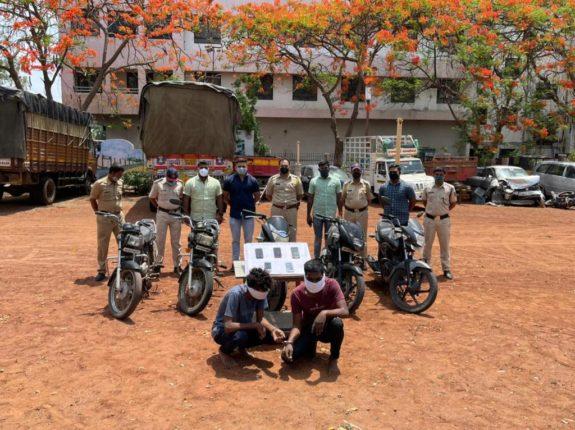 बारामतीमध्ये दुचाकी चोरणारी टोळी जेरबंद ; पावणेतीन लाखाचा माल हस्तगत