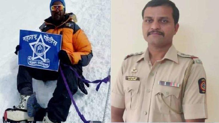 पोलिस उपनिरीक्षक संभाजी गुरव यांचा एव्हरेस्टवर झेंडा ; महाराष्ट्र पोलीस दलाचच्या शिरपेचात मानाचा तुरा