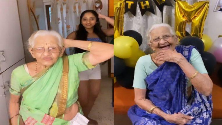 अभिनेत्री आदिती द्रविडचा ९० वर्षाच्या आजीबरोबर 'RICO RICO' डान्स, तरूणांना लाजवेल असा उत्साह बघून तुम्हीही हैराण व्हाल!