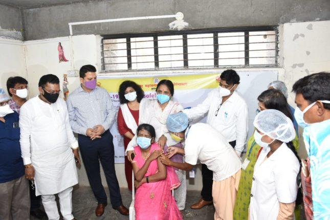 Vaccination for the disabled in Aurangabad for the first time in Maharashtra