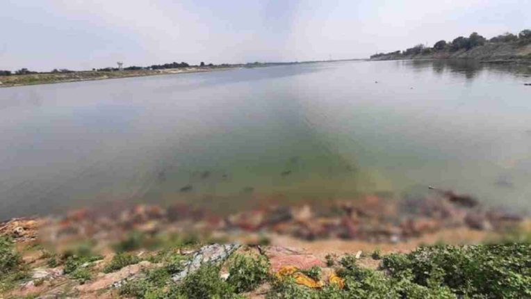 40 bodies found floating in Ganges at Buxar on UP-Bihar border; The administration claims that the bodies are being transported from Uttar Pradesh