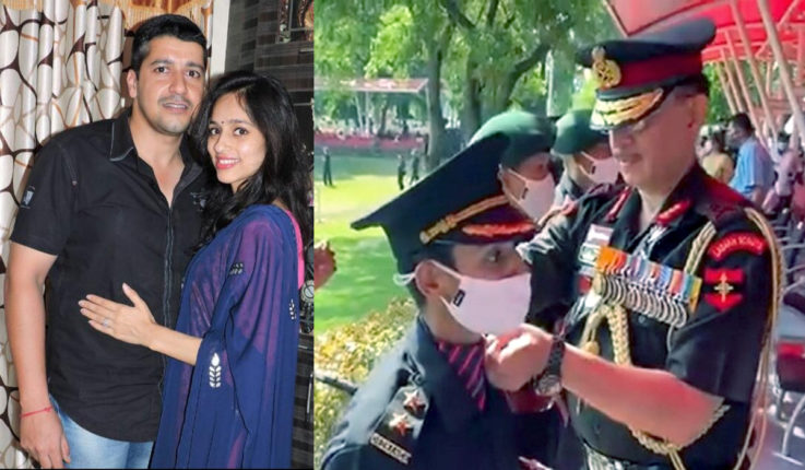 Wife joins army; A unique tribute to the martyred husband