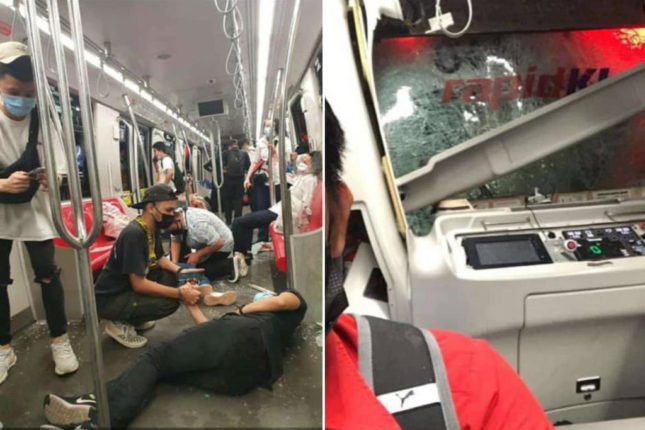 More than 200 people were injured in an accident involving an LRT train in Kuala Lumpur, the capital of Malaysia