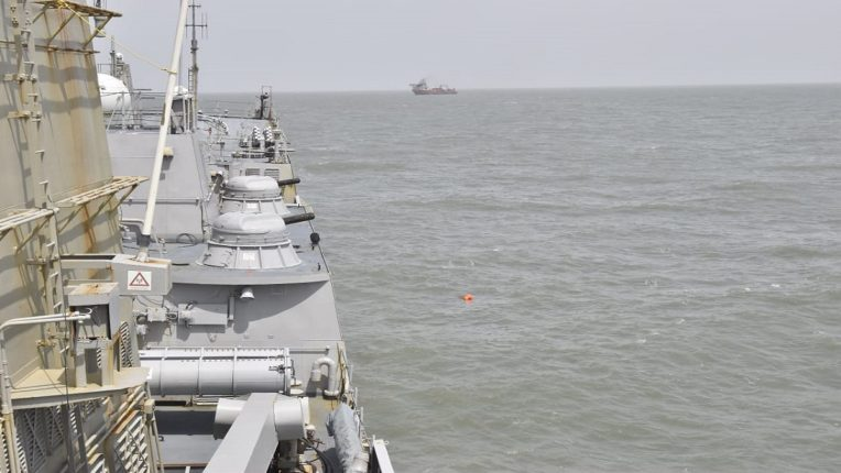 The bodies of 49 people were found in the sea 600 crew members safe Naval rescue operation begins