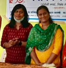 सभापती रजनी भडकूंबे , बीडीओ डॉ.जास्मीन शेख