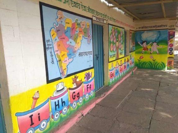 शाळेच्या बोलक्या भिंती विद्यार्थ्यांच्या प्रतिक्षेत ; चिमुकल्यांना शाळा सुरु होण्याची लागली उत्सुकता