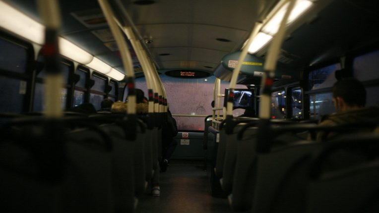 I was not doing it in the bus; Half-naked