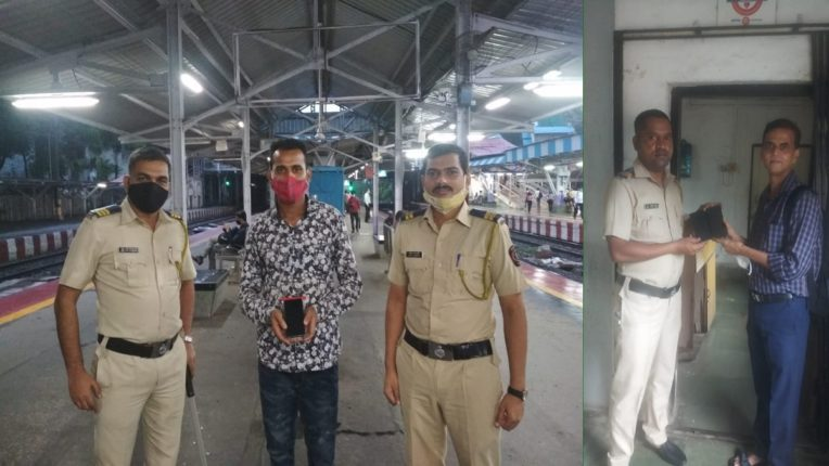 Strong performance of Dadar Railway Police; Lost mobile passengers returned