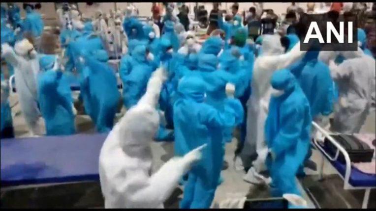 dance in covid center