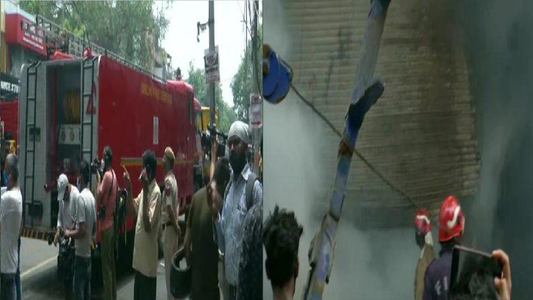 राजधानी दिल्लीत कपड्यांच्या शोरूमला भीषण आग, अग्निशमनदलाच्या ३० गाड्या घटनास्थळी दाखल