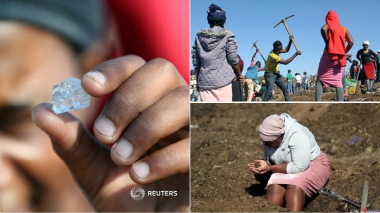 Upon hearing of the discovery of a diamond in a village in South Africa, large numbers of people went to the mountains and began digging in search of diamonds